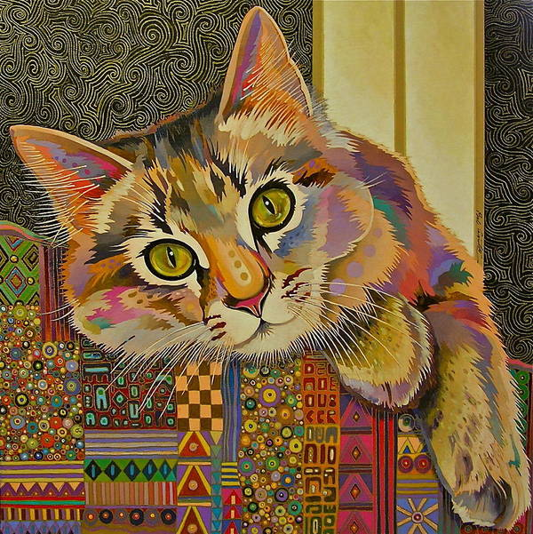Feline Art Art Print featuring the painting Diego by Bob Coonts