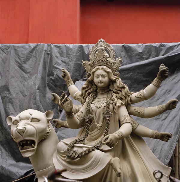 Woman Art Print featuring the photograph Durga In Kumartuli by Shaun Higson