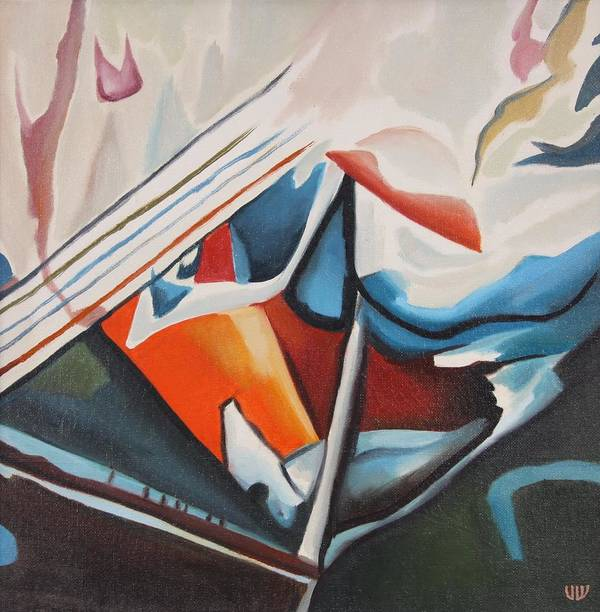 Abstract Art Print featuring the painting Dynamics by Stefan Shikerov