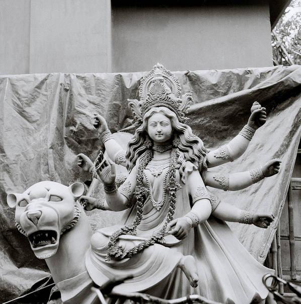 Art Art Print featuring the photograph Goddess Durga by Shaun Higson