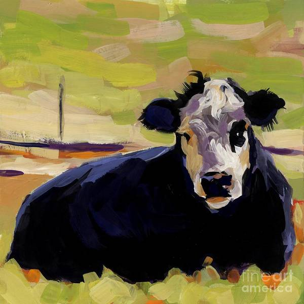 Cow Art Print featuring the painting Greens by Molly Poole