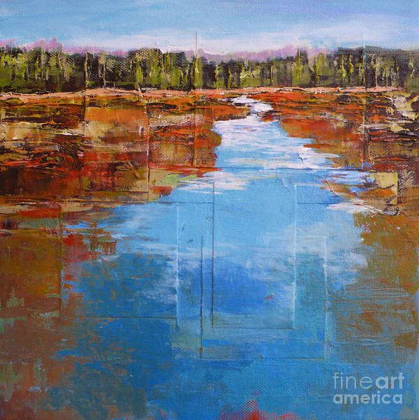 Landscape Art Print featuring the painting Heading West No. 5 by Melody Cleary