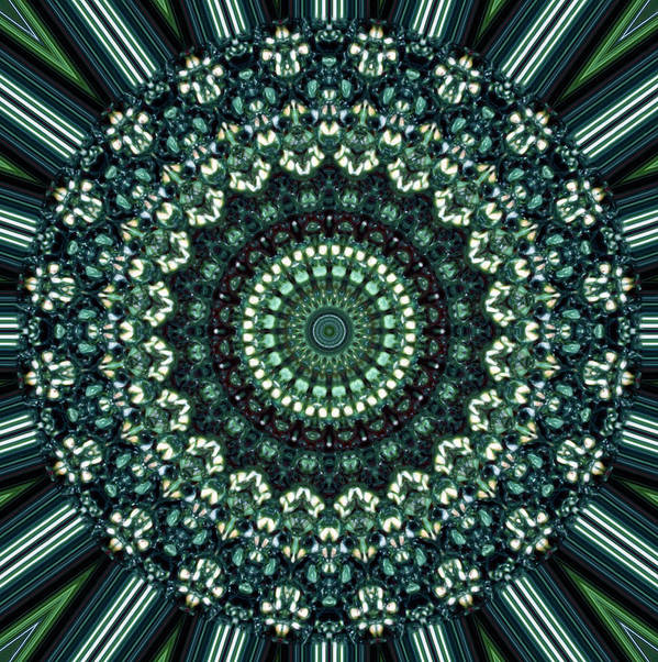 Abstract Art Print featuring the painting Kaleidoscope 10 by Tom Druin