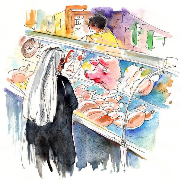 Travel Art Print featuring the painting La Laguna Market 03 by Miki De Goodaboom