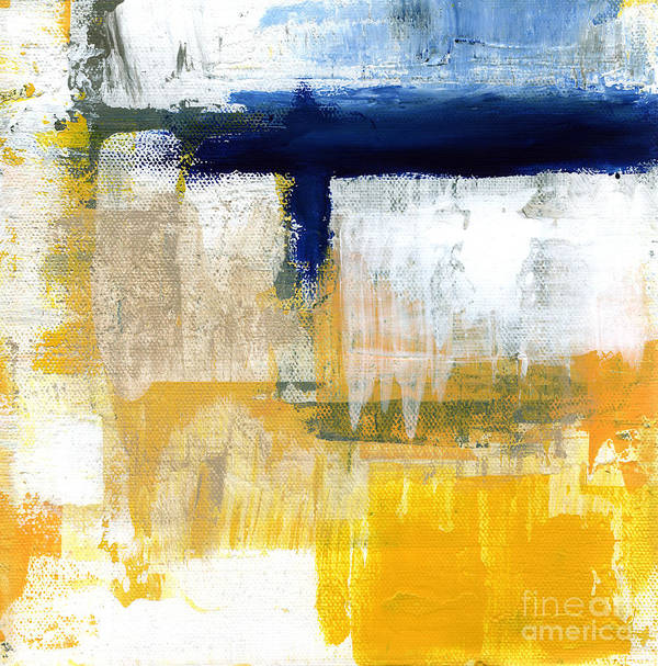 Abstract Art Print featuring the painting Light Of Day 2 by Linda Woods