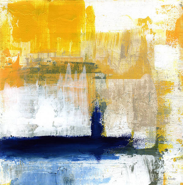 Abstract Art Print featuring the painting Light Of Day 4 by Linda Woods