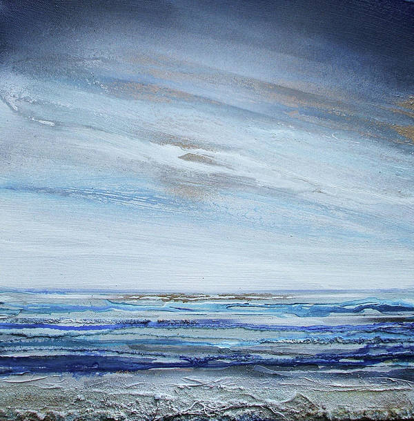 Beach Art Print featuring the mixed media Low Newton Beach Rhythms And Textures 3 by Mike  Bell