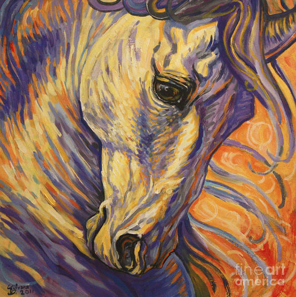Horse Art Print featuring the painting Majestic Lipizzan by Silvana Gabudean Dobre