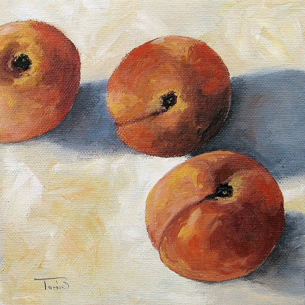 Peaches Art Print featuring the painting More Georgia Peaches by Torrie Smiley