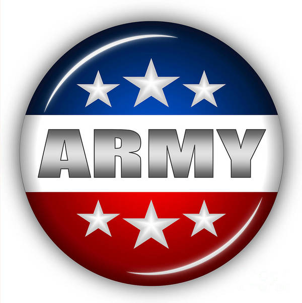 Army Art Print featuring the digital art Nice Army Shield by Pamela Johnson