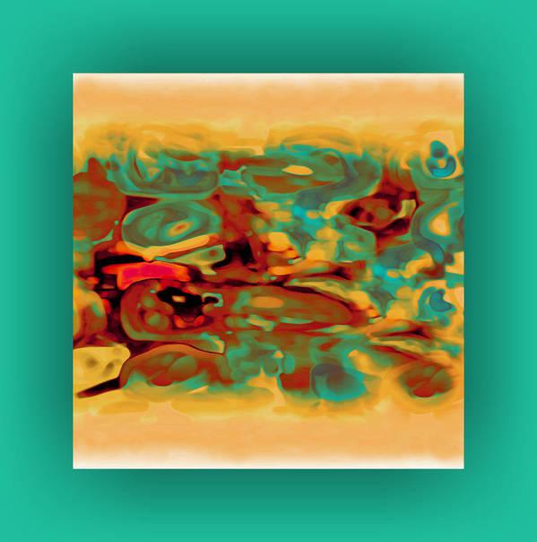 Pastel Art Print featuring the digital art Pastel 5 by Mihaela Stancu