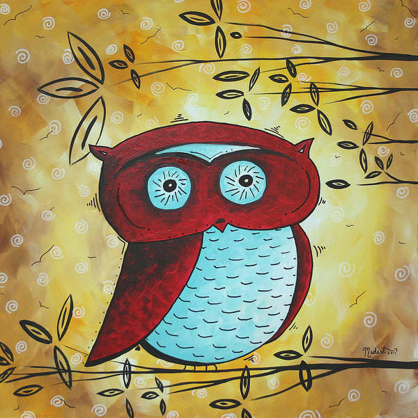 Wall Art Print featuring the painting Peekaboo By Madart by Megan Duncanson