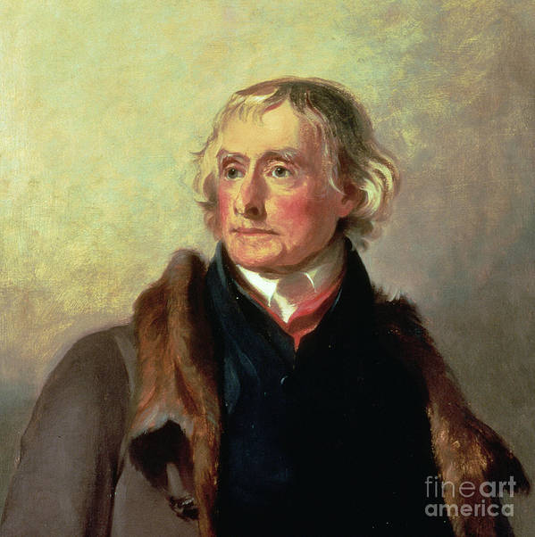 Thomas Jefferson Art Print featuring the painting Portrait Of Thomas Jefferson by Thomas Sully