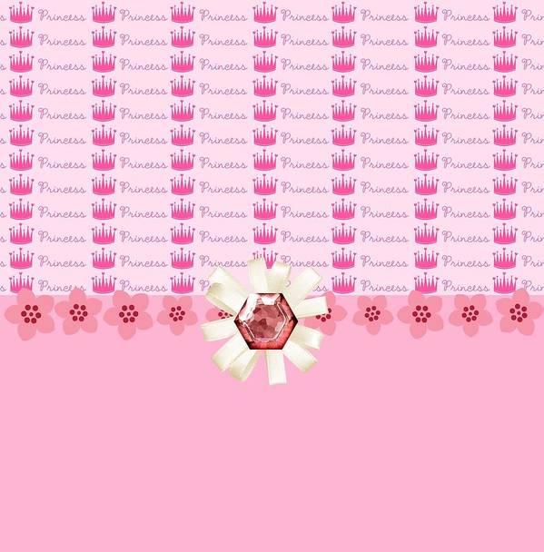 Diamonds Art Print featuring the digital art Princess Pink Crowns by Debra Miller