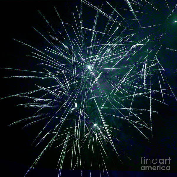 Pyrotechnics Art Print featuring the photograph Pyrotechnic Delight by John Stephens