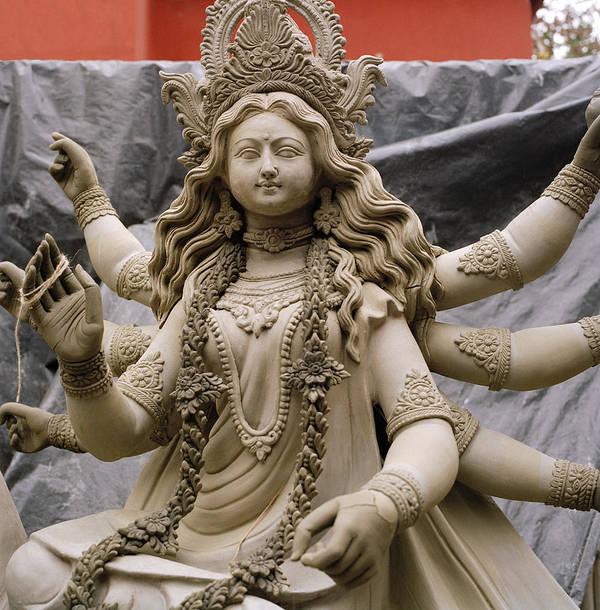India Art Print featuring the photograph Queen Durga by Shaun Higson