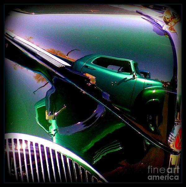 Oldie Art Print featuring the photograph Reflection Of Reflections by Bobbee Rickard