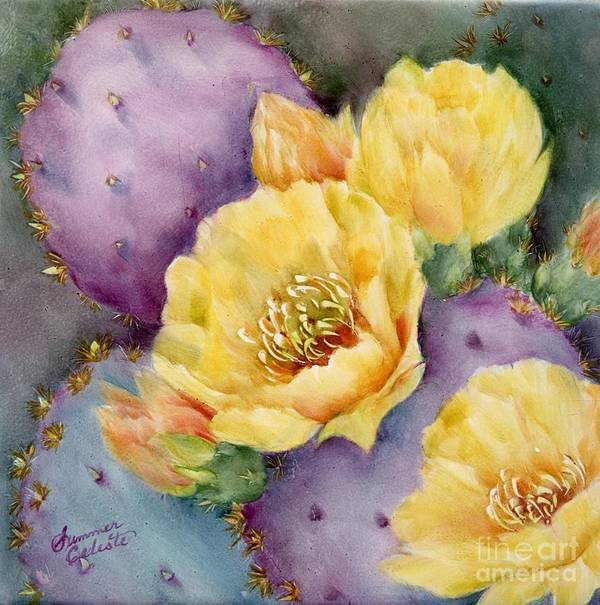 Southwest Art Print featuring the painting Santa Rita In Bloom by Summer Celeste