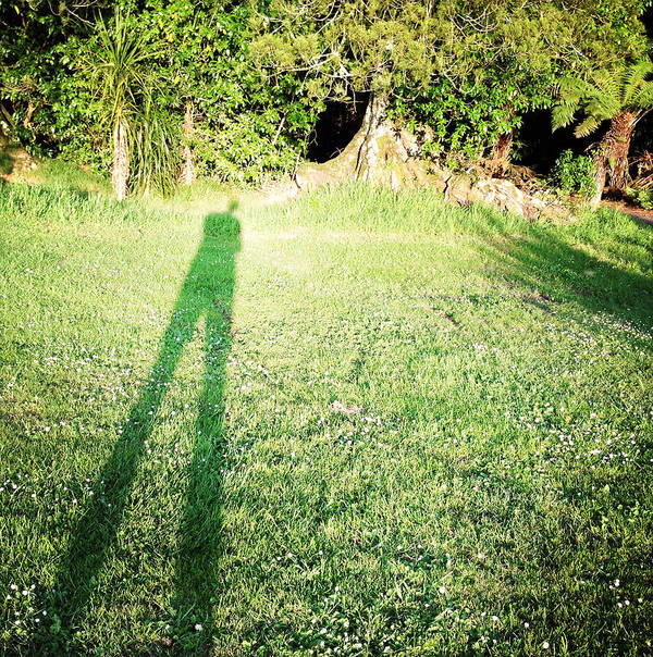 Alone Print featuring the photograph Selfie Shadow by Les Cunliffe