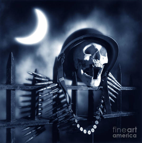 Skull Art Print featuring the photograph Skull by Tony Cordoza