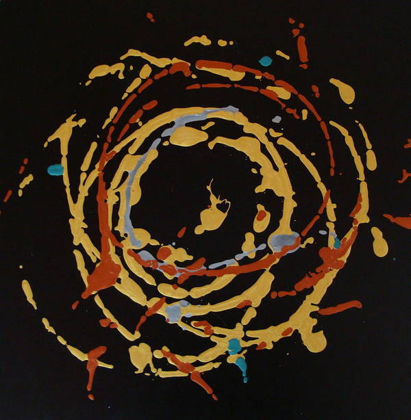Abstract Art Print featuring the painting Solaris by Holly Picano