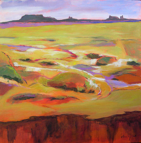 Landscape Art Print featuring the painting Southwest Stillness 1 by Melody Cleary