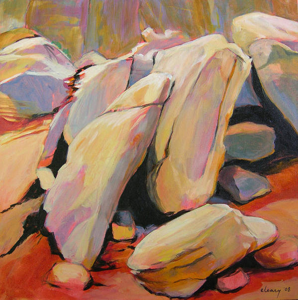 Landscape Art Print featuring the painting Southwest Stillness 2 by Melody Cleary