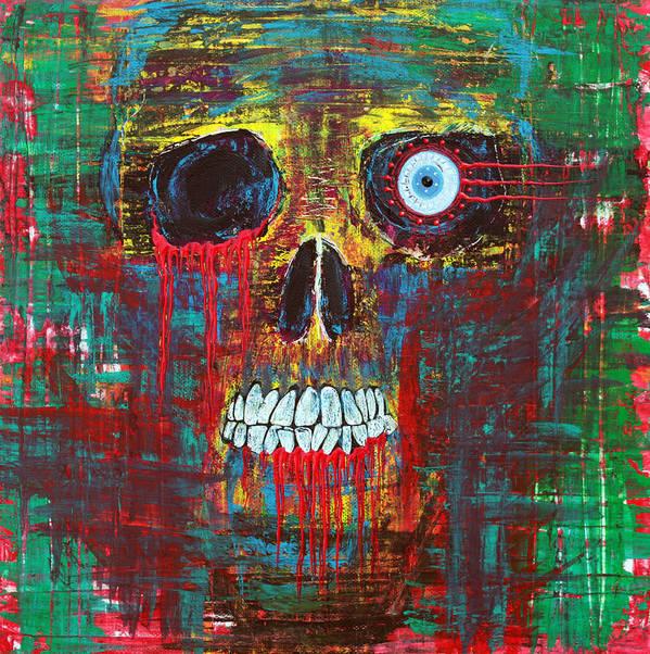 Skull Art Print featuring the painting Spirit Of Davy Jones by Laura Barbosa