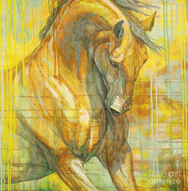 Horse Art Print featuring the painting Spring Energy by Silvana Gabudean Dobre