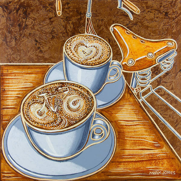 Still Life Art Print featuring the painting Still Life With Bicycle by Mark Howard Jones