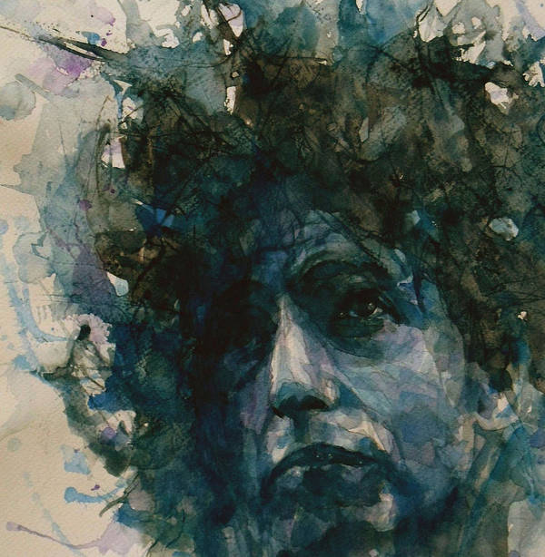 Bob Dylan Art Print featuring the painting Subterranean Homesick Blues by Paul Lovering