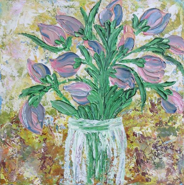 Flowers Print featuring the painting The Bouquet II by Molly Roberts