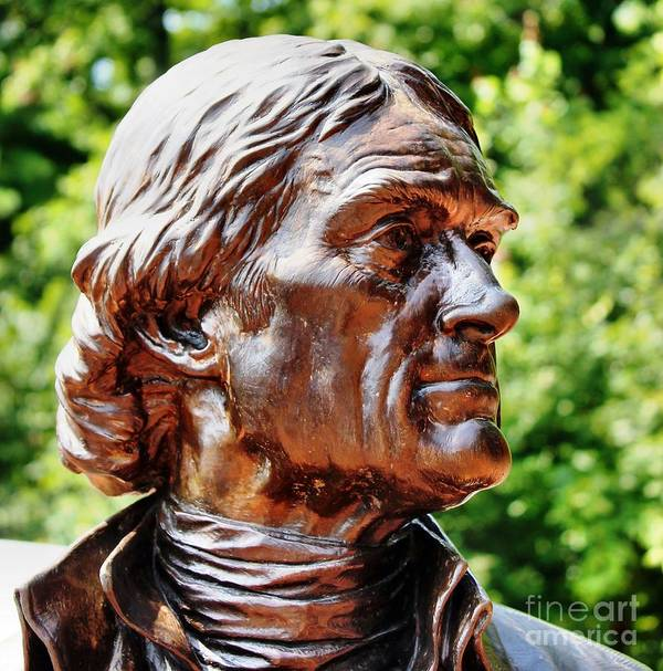 Thomas Jefferson Art Print featuring the photograph Thomas Jefferson by Judy Palkimas