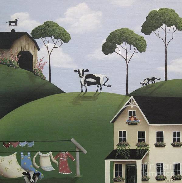 Art Art Print featuring the painting Till The Cows Come Home by Catherine Holman