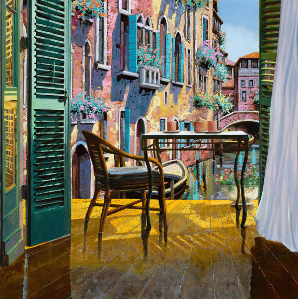Venice Art Print featuring the painting Un Soggiorno A Venezia by Guido Borelli