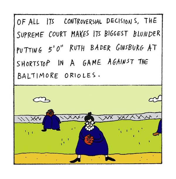 Of All Its Controversial Decisions Art Print featuring the drawing Of All Its Controversial Decisions by Zachary Kanin