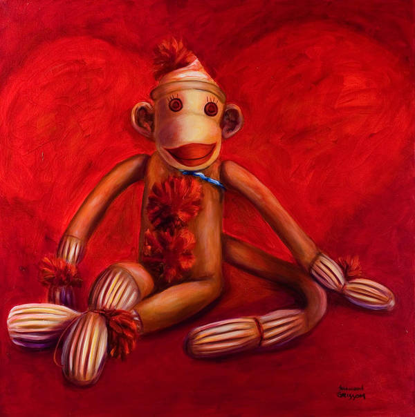 Children Art Print featuring the painting Valentine by Shannon Grissom