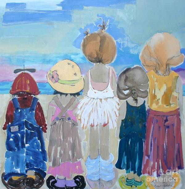 Vicki Aisner Porter Art Print featuring the painting We Will Remember This by Vicki Aisner Porter