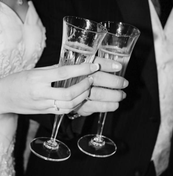Champagne Art Print featuring the photograph Wedding Toast by Valerie Loop