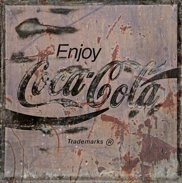 Coca Cola Art Print featuring the photograph Coca Cola Sign Grungy Retro Style by John Stephens