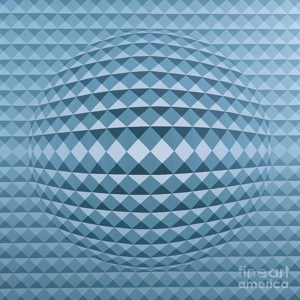 Geometric Art Print featuring the painting Abstract Composition by Peter Szumowski