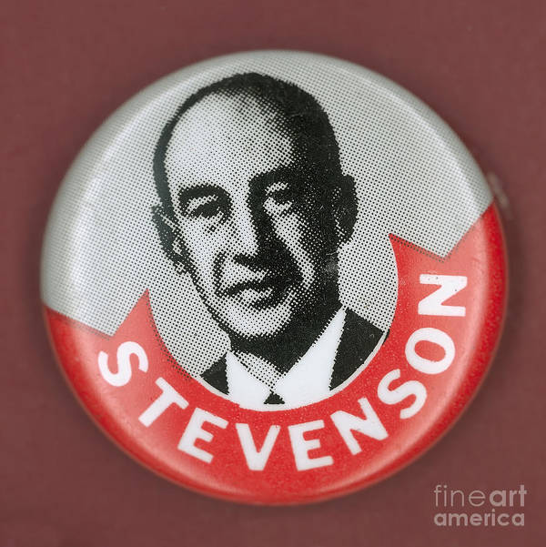1952 Art Print featuring the photograph Campaign Button by Granger