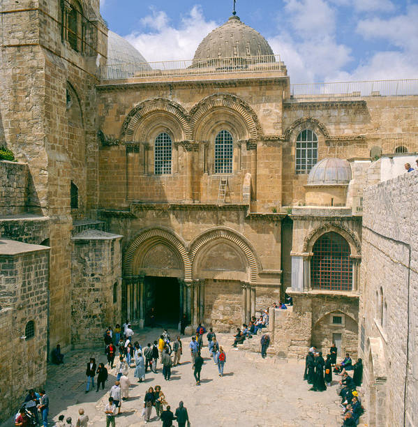 Church Of Holy Sepulchre Art Print featuring the photograph Church Of Holy Sepulchre Old City Jerusalem by Daniel Blatt