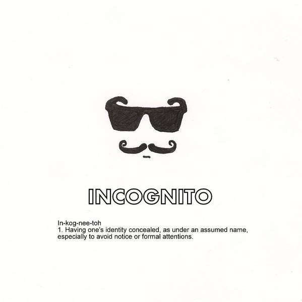 Sun Glasses Art Print featuring the drawing Incognito by Candace Fowler