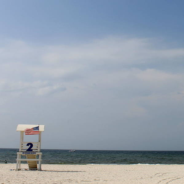 Beach Art Print featuring the photograph Lifeguard Station 2 by Eric Ward