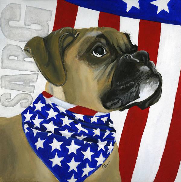 Patriotic Art Print featuring the painting Sarg by Debbie Brown