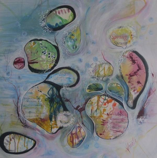 Spring Art Print featuring the painting Spring Is Sprung by Almeta LENNON