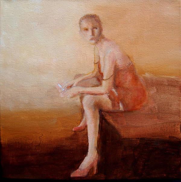 Portrait Art Print featuring the painting Female Feel-male Gaze by Jea DeVoe