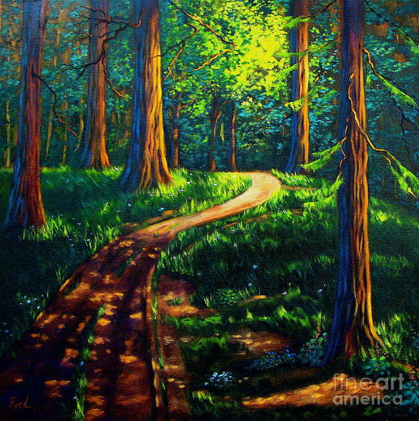 Landscape Art Print featuring the painting Giants by Patricia Reed