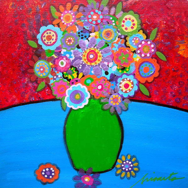 Pristine Art Print featuring the painting Blooms 3 by Pristine Cartera Turkus
